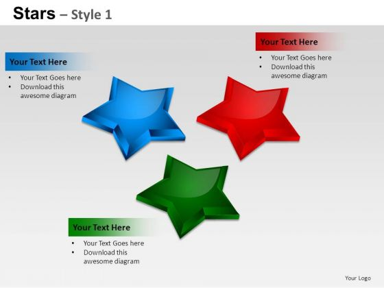 PowerPoint Themes Diagram Stars Ppt Templates