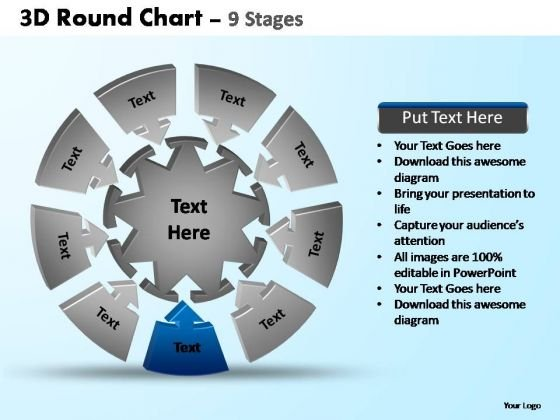 PowerPoint Themes Download Pie Chart With Arrows Ppt Design Slides