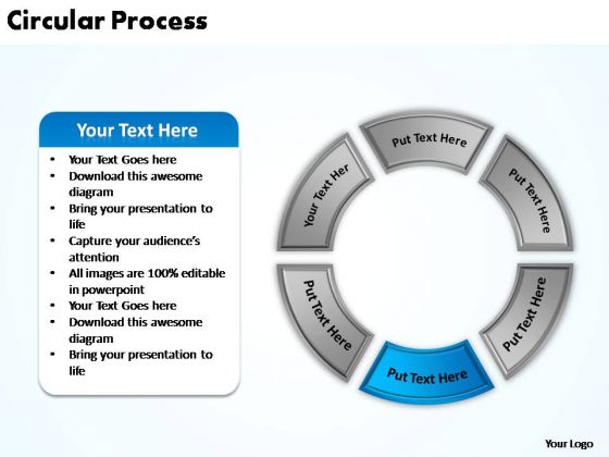 PowerPoint Themes Editable Circular Process Ppt Template