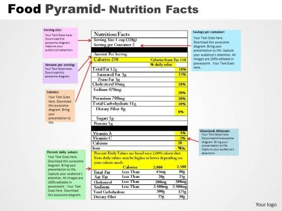 PowerPoint Themes Editable Food Pyramid Ppt Presentation