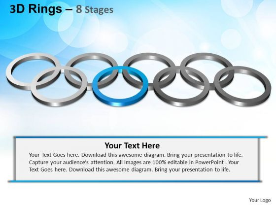 PowerPoint Themes Editable Rings Ppt Process