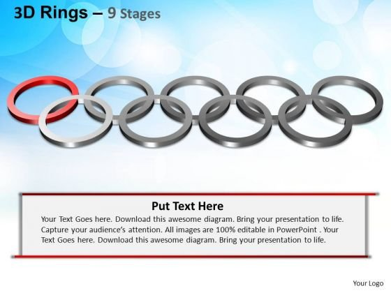 PowerPoint Themes Editable Rings Ppt Slide