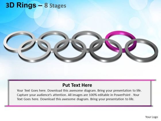 PowerPoint Themes Editable Rings Ppt Template