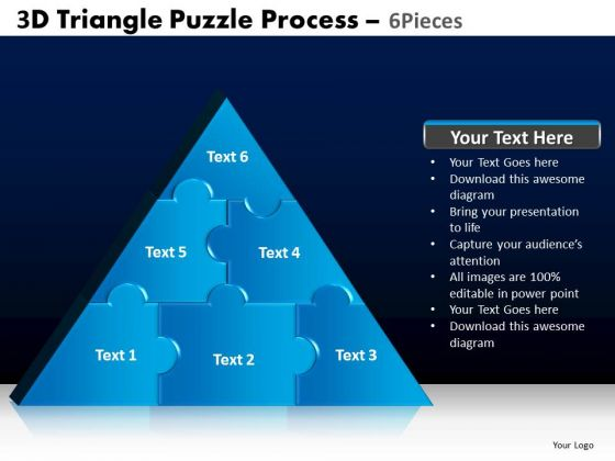 PowerPoint Themes Editable Triangle Puzzle Ppt Layouts