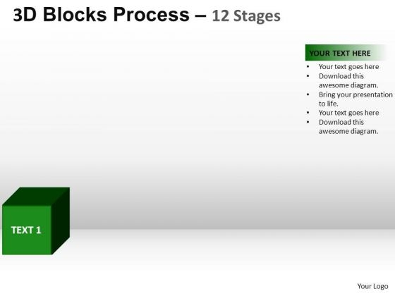 PowerPoint Themes Education Blocks Process Ppt Templates