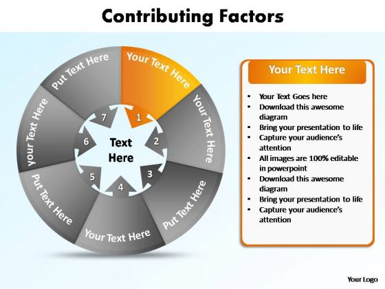 PowerPoint Themes Education Contributing Factors Ppt Design Slides