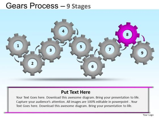 PowerPoint Themes Education Gears Ppt Themes