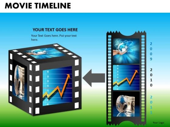 PowerPoint Themes Executive Competition Vision Movie Timeline Ppt Slide