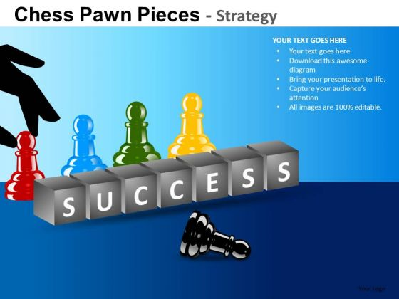 PowerPoint Themes Executive Success Chess Pawn Ppt Templates
