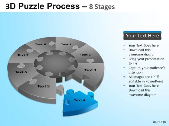 PowerPoint Themes Executive Teamwork Puzzle Segment Pie Chart Ppt Templates