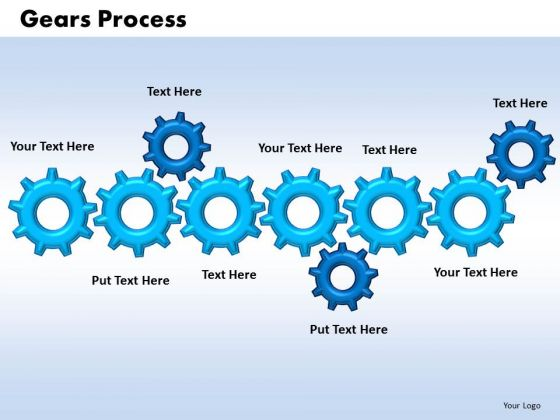 PowerPoint Themes Gears Process Leadership Ppt Designs