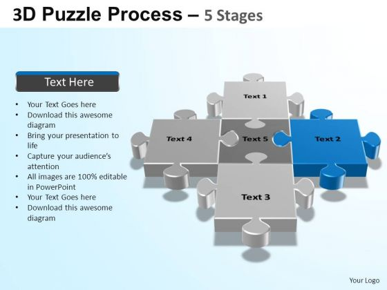 PowerPoint Themes Global Puzzle Process Ppt Slides