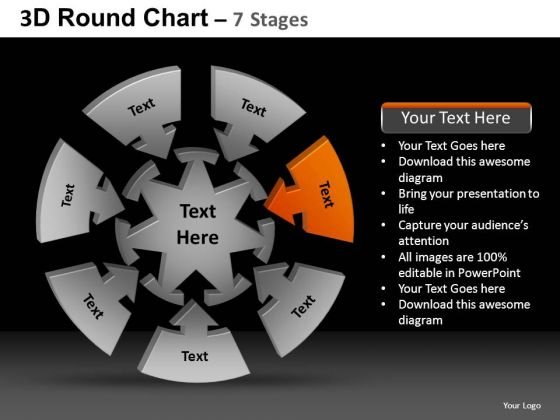 PowerPoint Themes Global Round Chart Ppt Template