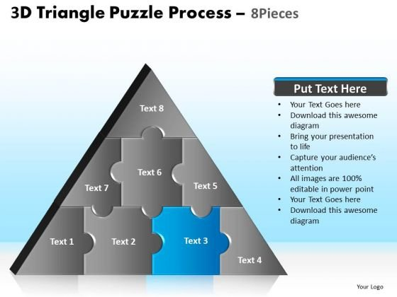 PowerPoint Themes Global Triangle Puzzle Ppt Design