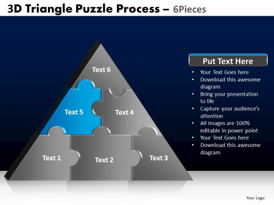 PowerPoint Themes Global Triangle Puzzle Ppt Presentation