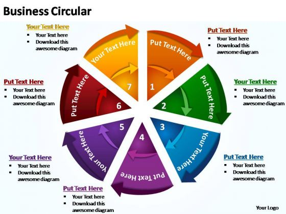 PowerPoint Themes Graphic Business Circular Ppt Template