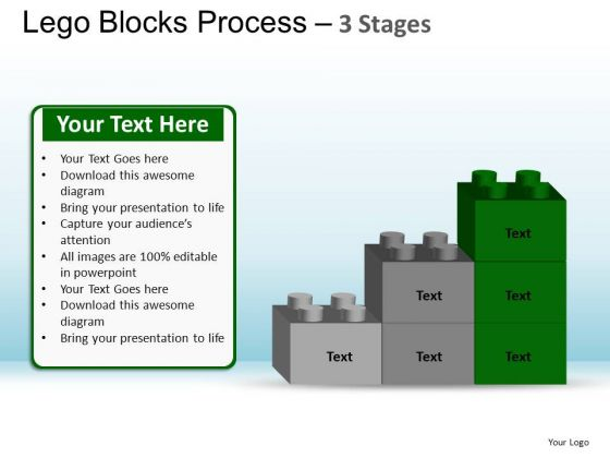 PowerPoint Themes Graphic Lego Blocks Ppt Theme
