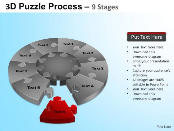PowerPoint Themes Graphic Puzzle Segment Pie Chart Ppt Designs