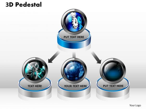 PowerPoint Themes Growth 3d Pedestal Ppt Slides
