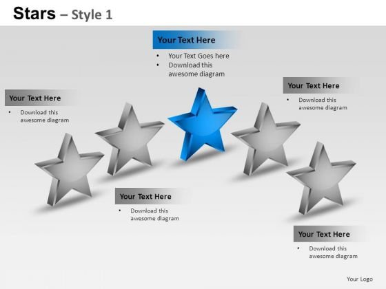 PowerPoint Themes Growth Stars Ppt Templates