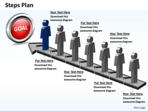 PowerPoint Themes Growth Steps Plan 7 Stages Style 5 Ppt Slide Designs