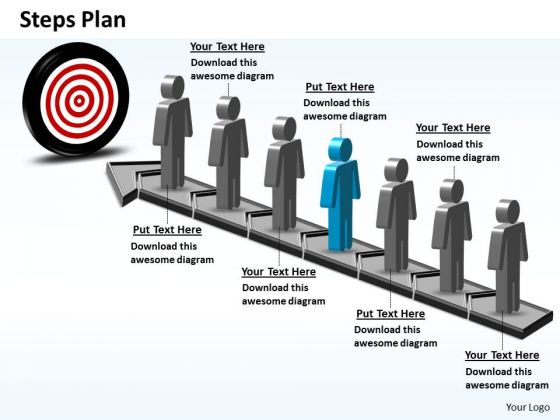 PowerPoint Themes Growth Steps Plan 7 Stages Style 6 Ppt Templates