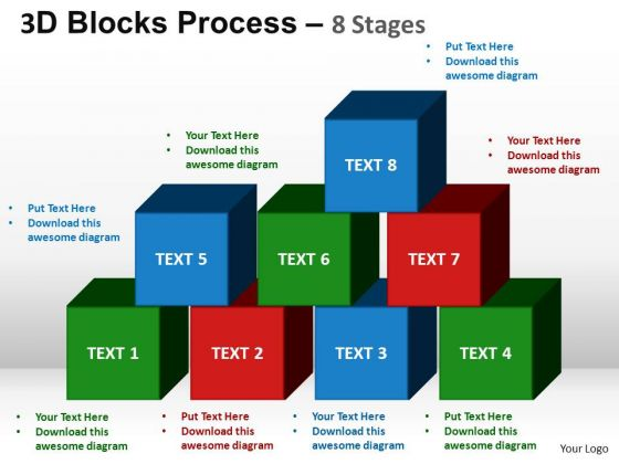 PowerPoint Themes Image Blocks Process Ppt Slide