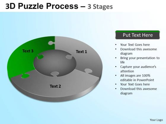 PowerPoint Themes Image Jigsaw Pie Chart Ppt Design