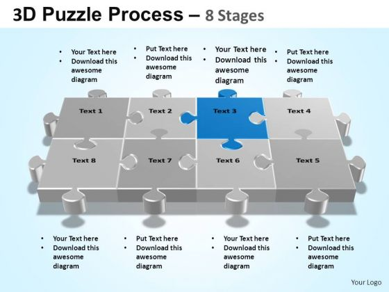 PowerPoint Themes Image Puzzle Process Ppt Backgrounds