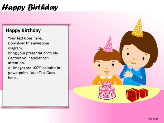 PowerPoint Themes Kids Happy Birthday Ppt Slides