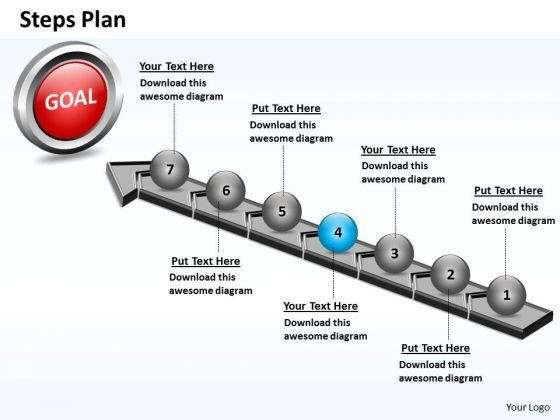 PowerPoint Themes Leadership Steps Plan 7 Stages Style 4 Ppt Theme