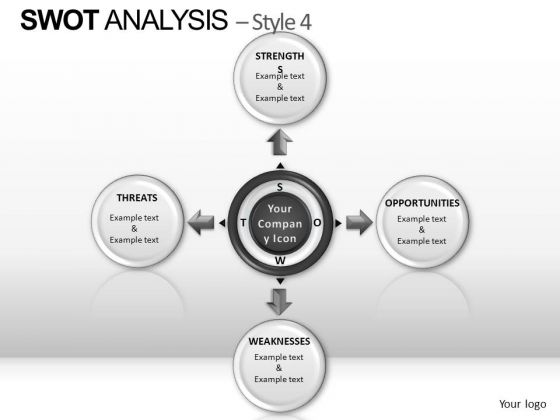 PowerPoint Themes Leadership Swot Analysis Ppt Process