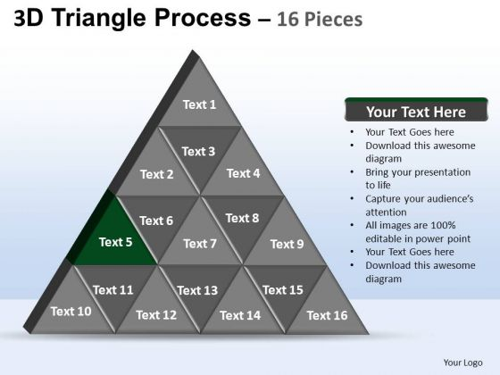 PowerPoint Themes Leadership Triangle Process Ppt Themes