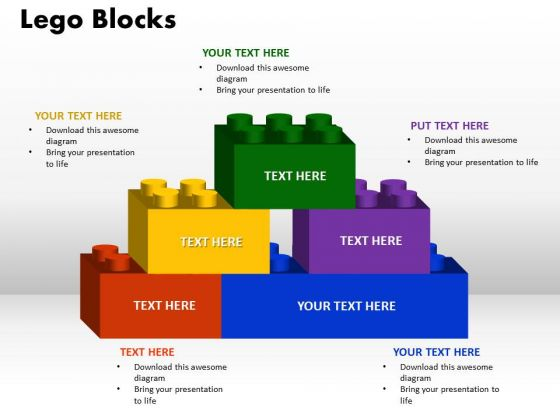PowerPoint Themes Lego Blocks Process Ppt Template