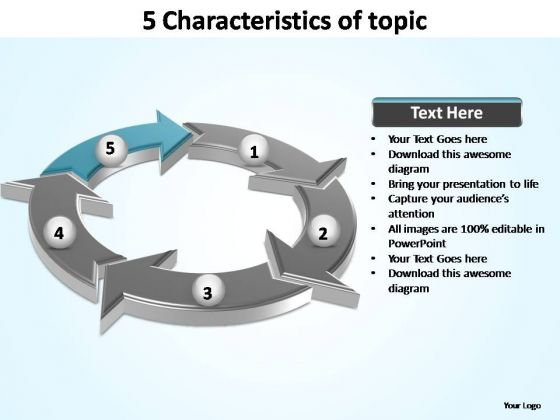 PowerPoint Themes Marketing Characteristics Of Topic Ppt Template