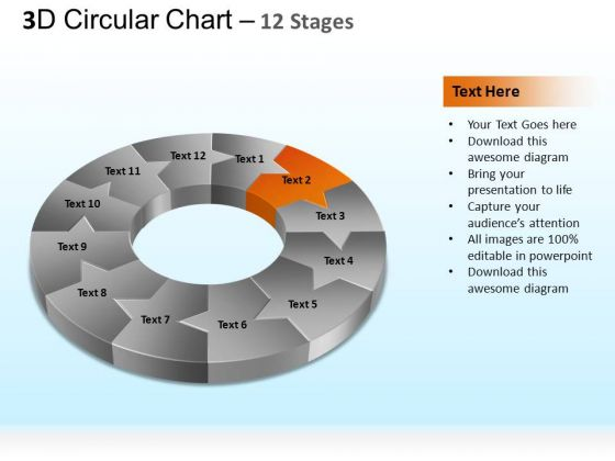 PowerPoint Themes Marketing Circular Ppt Slides