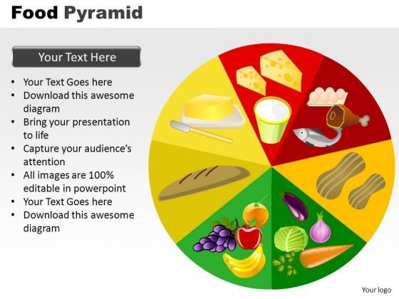 PowerPoint Themes Marketing Food Pyramid Ppt Design