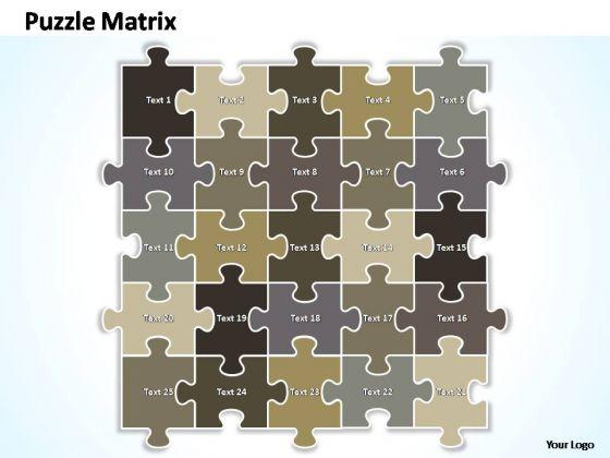 PowerPoint Themes Marketing Puzzle Matrix Ppt Perentation