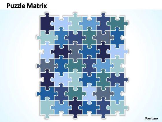 PowerPoint Themes Marketing Puzzle Matrix Ppt Slides