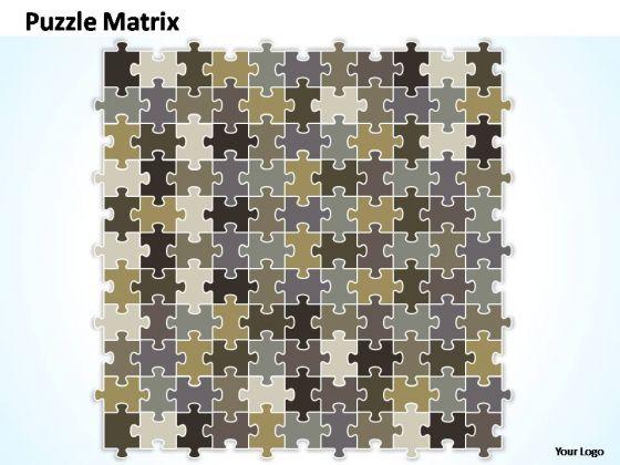 PowerPoint Themes Marketing Puzzle Matrix Ppt Templates