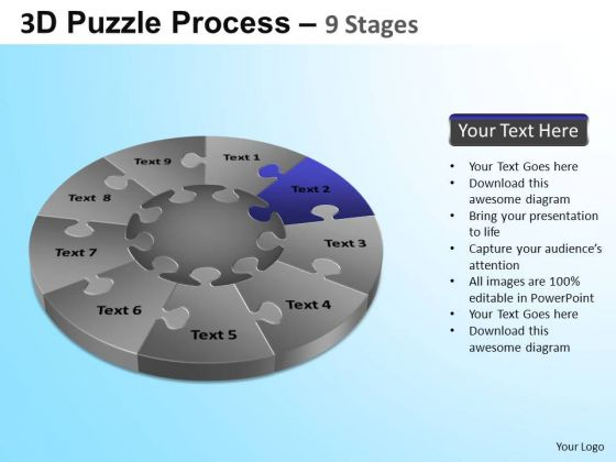 PowerPoint Themes Marketing Puzzle Segment Pie Chart Ppt Designs