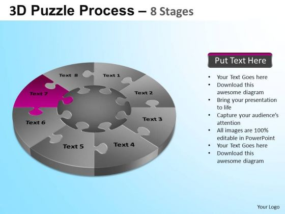 PowerPoint Themes Marketing Puzzle Segment Pie Chart Ppt Themes