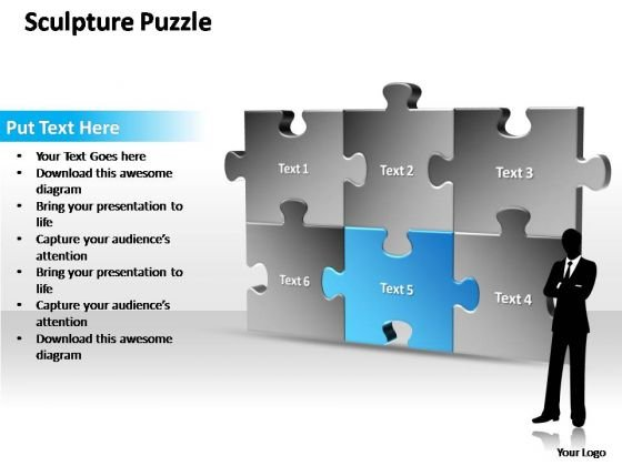 PowerPoint Themes Marketing Sculpture Puzzle Ppt Templates