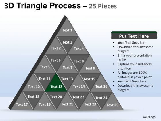 PowerPoint Themes Marketing Triangle Process Ppt Themes