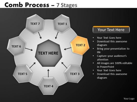 PowerPoint Themes Process Hub And Spokes Process Ppt Backgrounds