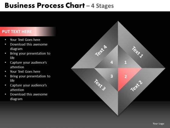 PowerPoint Themes Process Quadrant Diagram Ppt Slides