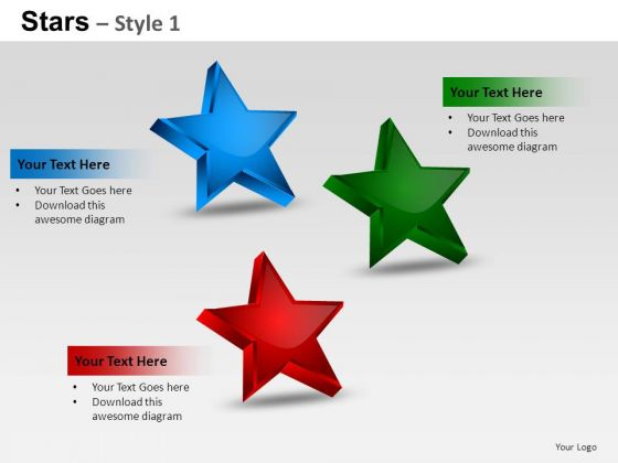 PowerPoint Themes Process Stars Ppt Templates