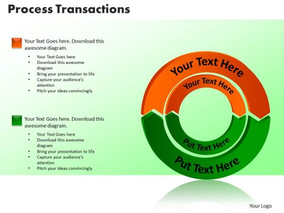PowerPoint Themes Process Transaction Business Ppt Slides