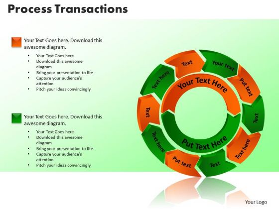 PowerPoint Themes Process Transaction Finance Ppt Design
