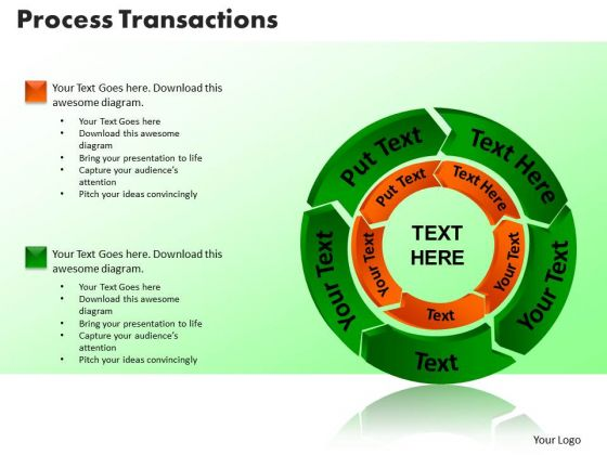 PowerPoint Themes Process Transaction Graphic Ppt Presentation
